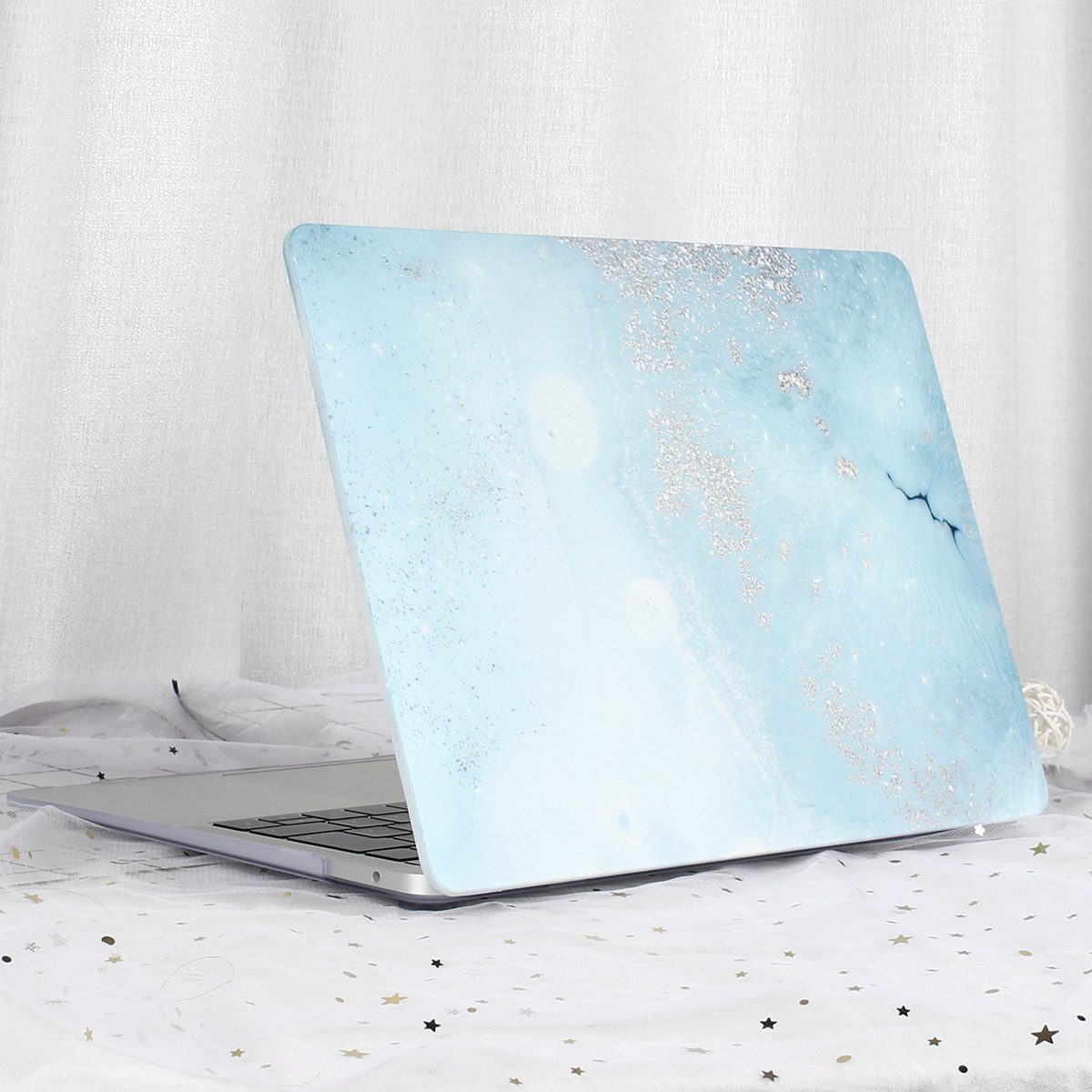 Marble Flower Pattern Case for MacBook 65