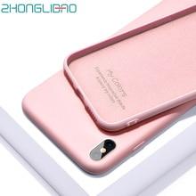 Soft Silicone Case for IPhone 11 Pro Max Liquid Cover 7 8 6 S 6s Plus Original Phone Bag coque