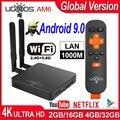 UGOOS AM6 pro Android 9 0 ТВ приставка Amlogic S922X Android Смарт ТВ приставка AM6 DDR4 4 ГБ ОЗУ 32 Гб двойной WiFi 1000M BT 5 0 4K медиаплеер