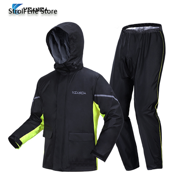 Adult Motorcycle Poncho Raincoat Men Rain Pants Suit Split Waterproof Rain Coat Clothes Jackets Thickened Rainwear Gift Ideas