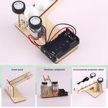 DIY 과학 RC 에어 보트 모델 과학 실험 퍼즐 조립 장난감 학생 소년 키즈 Diy 교육 피칭 기계 키트
