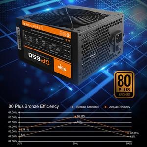 Image 2 - Aigo PC 전원 공급 장치 650W 80PLUS PSU 인증 전원 공급 장치 PC 게임 최대 850W 컴퓨터 12V 120mm 냉각 팬