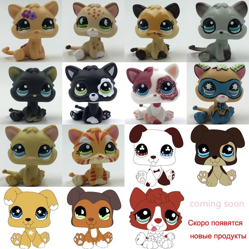 LPS CAT 3CM MINI Custom-made Baby Kitten Puppy For Pet Shop Toy Short Hair Cat Dog Collie Great Dane Spaniel Dachshund Kitty