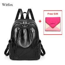 100% Del cuoio Genuino delle donne zaino della Scuola per gli studenti in vera pelle a prova di acqua sacchetto del pacchetto delle donne del sacchetto di tessitura del modello di vendita calda