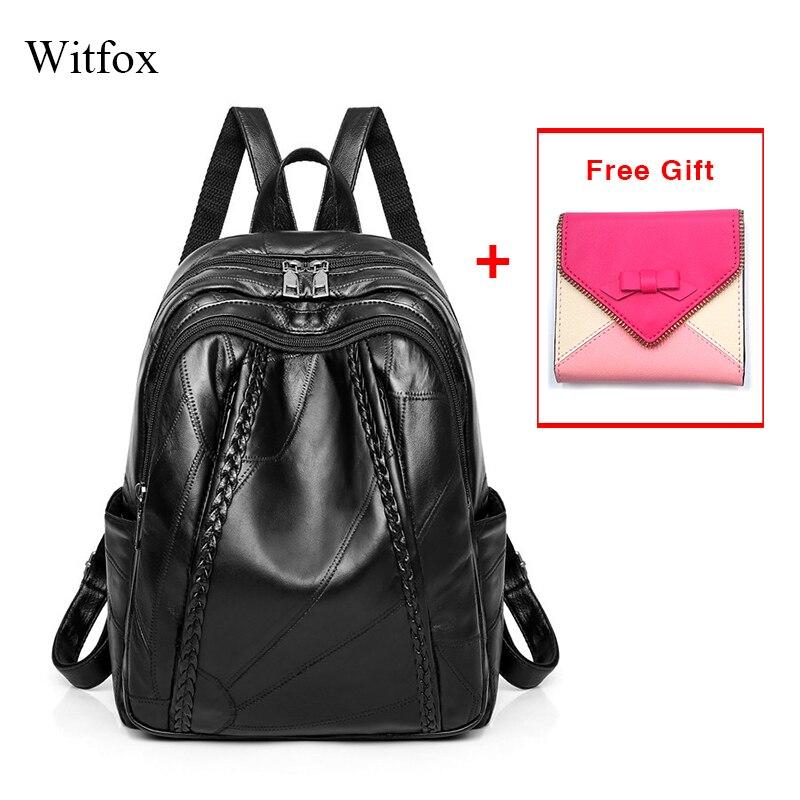 100% Genuína mulheres de couro mochila para estudante Da Escola saco pacote do saco das mulheres à prova de água de couro genuíno padrão de tecelagem venda quente