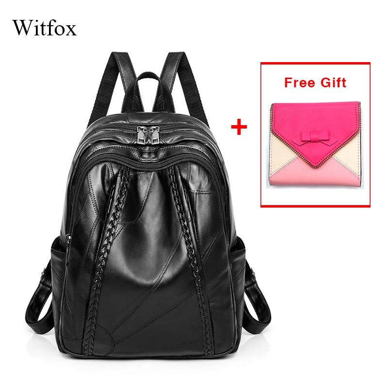 100% en cuir véritable femmes école sac à dos pour étudiant en cuir véritable imperméable sac pack femmes sac tissage modèle offre spéciale