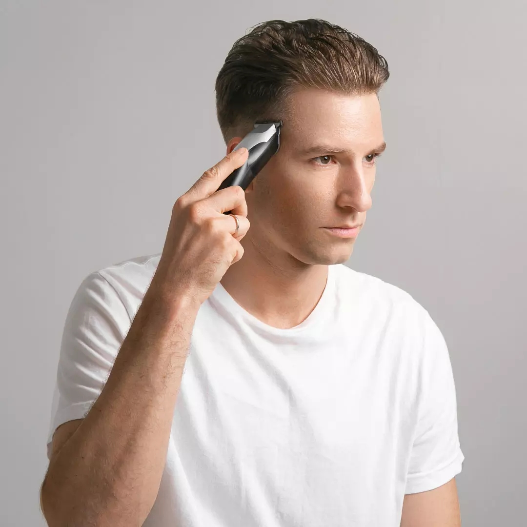 Image 3 - XIAOMI ENCHEN Hummingbird электрическая машинка для стрижки волос usb зарядка с низким уровнем шума триммер для волос с 3 щетками для волос черныйТриммеры для волос   -