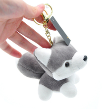 Cute Husky Dog Plush Doll Toy Keychain Keyring Pendant Bag Car Key Holder Jewelry
