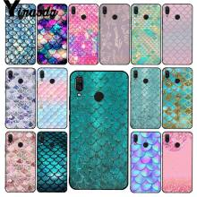 Yinuoda Pink Purple Glitter Mermaid Timbangan Phone Case untuk Xiaomi Redmi8 4X 6A S2 Pergi Redmi 5Plus Note8 note5 7 Note8Pro(China)