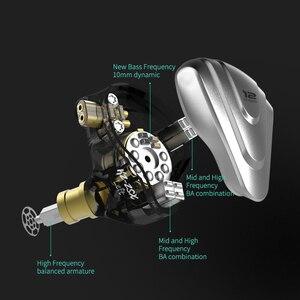Image 4 - Nieuwe Kz Zsx Terminator 5BA + 1DD 12 Unit Hybrid In Ear Oortelefoon Hifi Metalen Headset Muziek Sport Oordopjes voor Zsn Zst ZS10 Pro X S1 Z