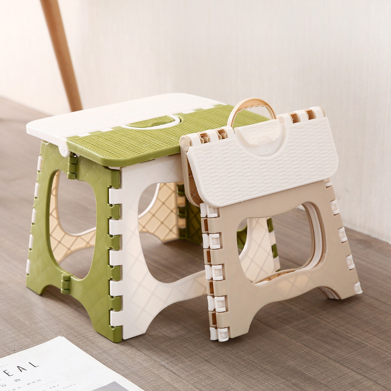 Plastic Multipurpose Folding Step Stool Home Train Outdoor Foldable Storage Convenient @LS