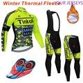 MAVIC зимний флисовый Мужской комплект для верховой езды с длинным рукавом, Триатлон, одежда для активного отдыха на велосипеде, комбинезон, в...