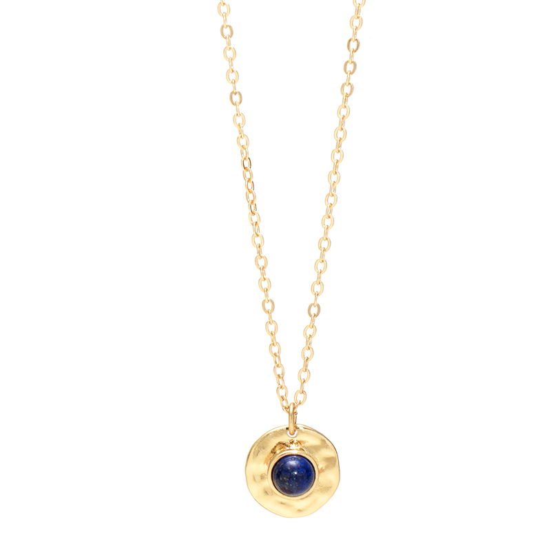 Sapphire blue stone Necklace