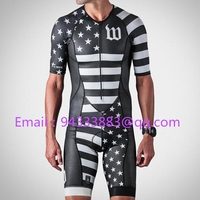 Wattie downhill bicycle cycling tri skinsuit 2019 ink jumpsuit custom aero suit ride bike men triathlon pro team clothes tights