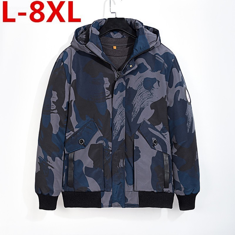Plus Size 8XL 7XL 6XL   Winter Duck Down Jacket Men Camouflage Jacket Men Thick Warm Mens White Duck Down  Jaqueta Masculina
