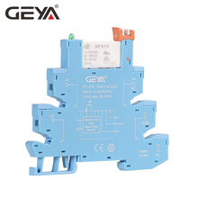 GEYA FY-41F-1 Din Rail Slim Relay Module Protection Circuit 6A Relay 12VDC/AC or 24VDC/AC Relay Socket 6.2mm thickness new and original t92p11a22 24 8pin relay 24vdc 30a 277vac 1 2hp