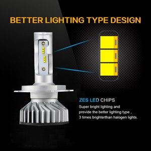 Image 3 - PAUNDUK bombilla de luz antiniebla para coche, minifaro LED Canbus H4 H7 ZES 4300K 6000K 8000K 16000LM 12V 24V H3 H1 9005 9006 HB4 H11