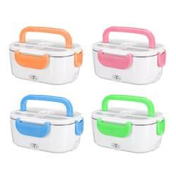 12 v 110 v 220 v portátil elétrica aquecida lancheira 2 em 1 carro & casa bento caixas recipiente de arroz alimentos mais quente plug eua/ue plug