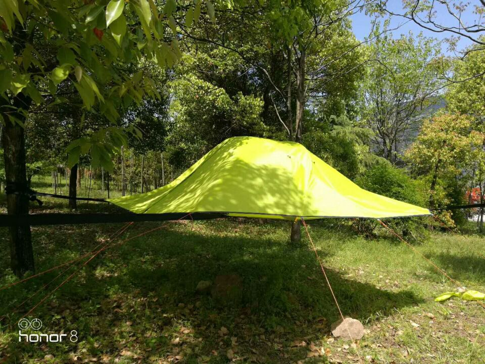 Hot Selling Double Layer 2 Person Tree Tent With Rainfly,CZX-367 Hanging Tree Tent,Camping Hammock Tent,Camping Tree House Tent