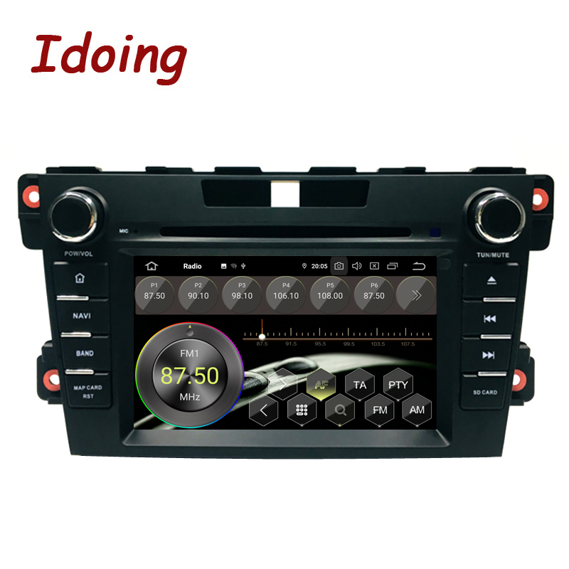 Image 3 - Idoing 2Din Steering Wheel Android 9.0 Fit mazda cx 7 CX 7 CX7 Car DVD Player 8Core 4G+64G GPS Navigation IPS Screen WiFi OBD2car dvd playerdvd car playermazda cx7 android -