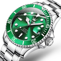 OLEVS-Reloj de acero para hombre, automático, Tourbillon mecánico, a la moda, 50M, resistente al agua, luminoso, movimiento automático, nuevo