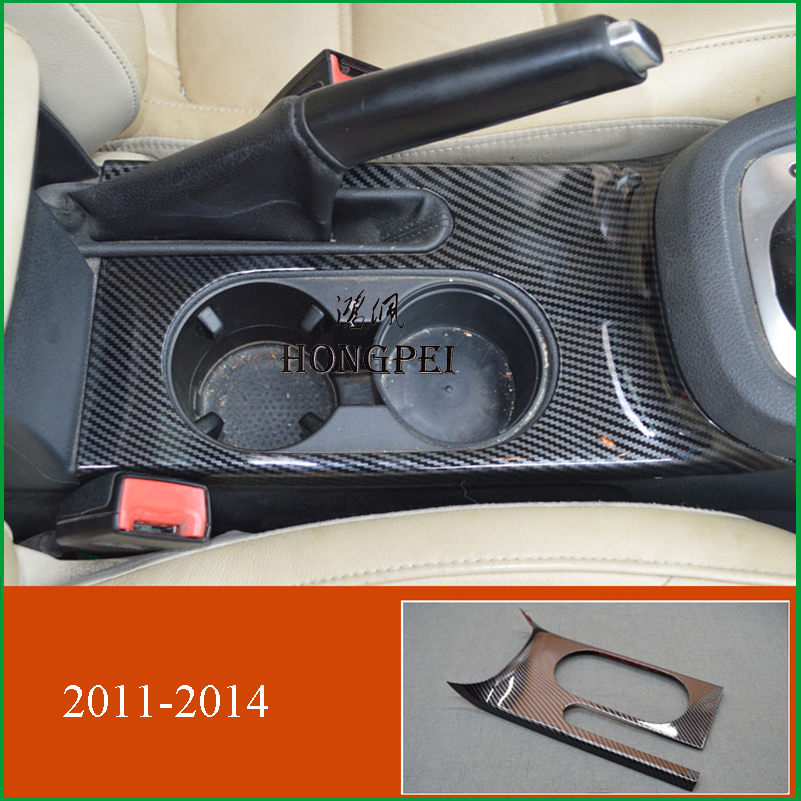 For Volkswagen JETTA 20112012 2013 2014 Left Hand Drive Interior Water Cup Panel Cover Sticker Trim Car Styling