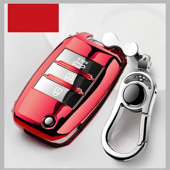 Obudowa kluczyka do samochodu dla kia nowa miękka TPU etui na klucze ochrona powłoki dla Kia Rio QL Sportage Ceed Cerato Sorento K2 K3 K4 K5 tanie i dobre opinie Beautiful Full cover New Soft TPU car key case shell Colorful Decoration Protection for Kia