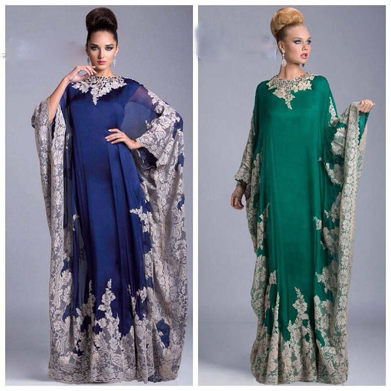 Vestido De Noche 2018 Arabic Kaftan Dubai Long Sleeve Evening Gown Abaya Moroccan Robe De Soiree Mother Of The Bride Dresses