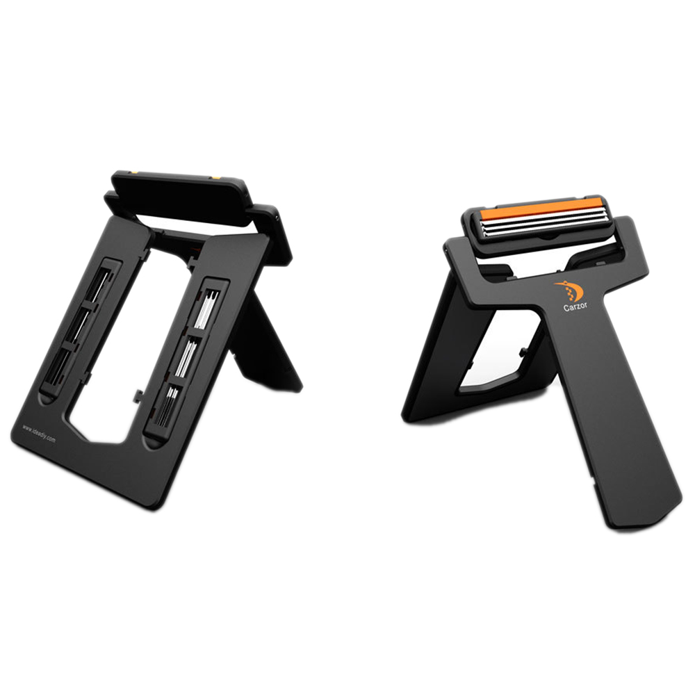 1 Razor 2 Blades New Men Shaving Razor Super Thin Portable Card Type Safety Double Razors Carzor Manual Shaver