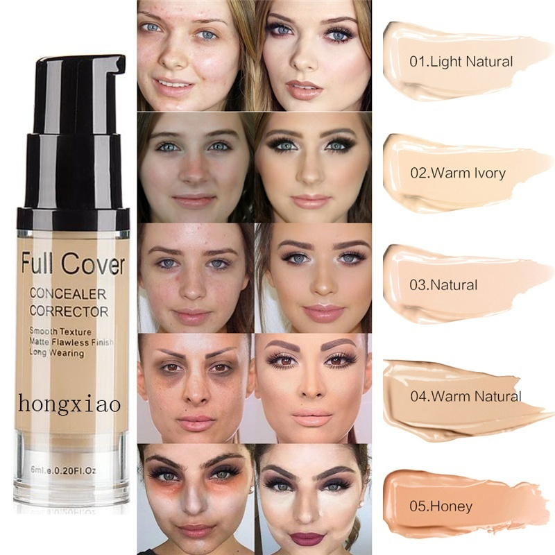 Natural Make Up Base Cosmetic Full Cover 8 Colors Concealer Makeup 6ml Eye Dark Circles Cream Face Corrector Waterproof