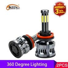 OKEEN 2pcs 높은 전원 Canbus 200W 자동 램프 H1 LED H7 H8 H9 9005 9006 H11 H13 9007 9008 Led 헤드 라이트 전구 H4 8 사이드 자동차 라이트