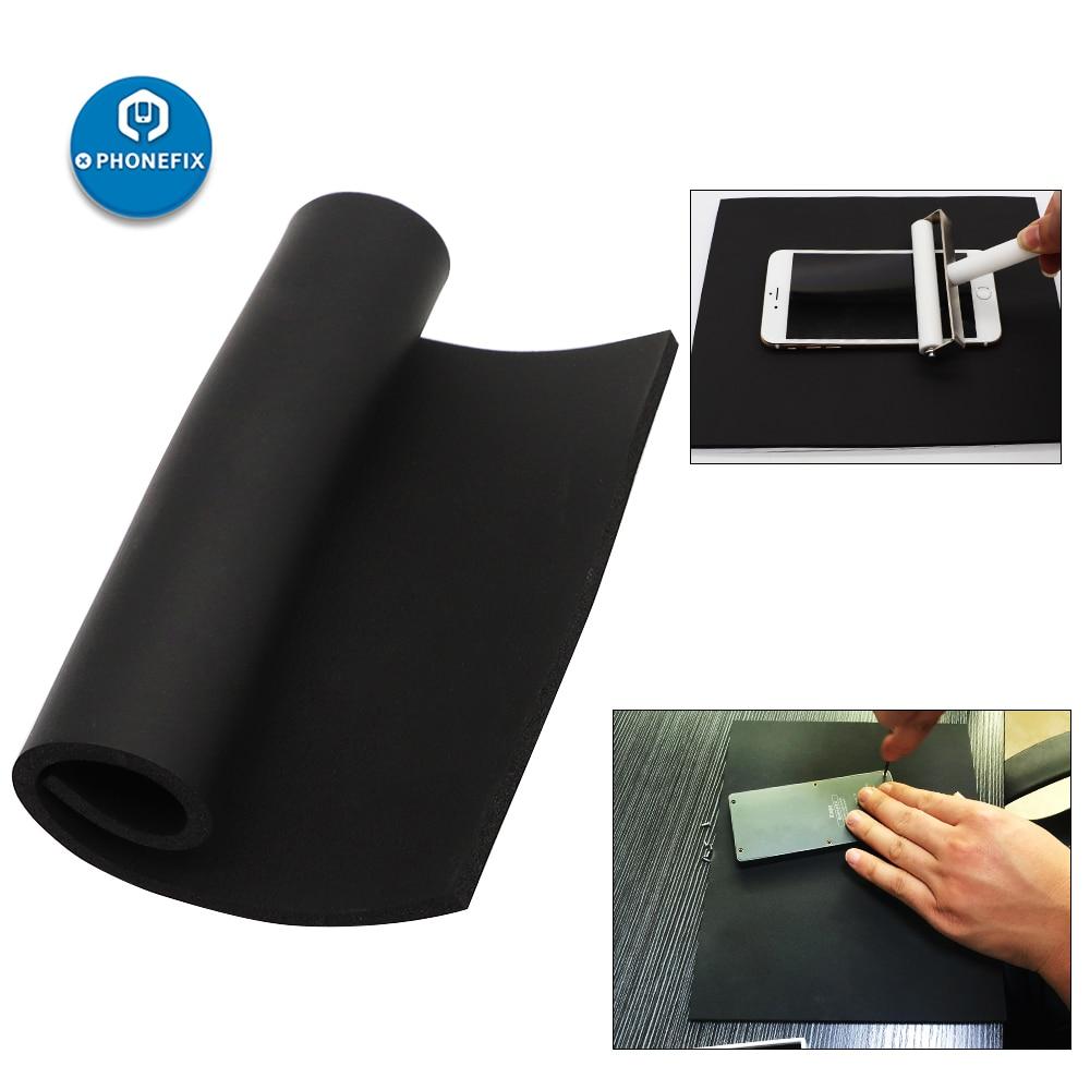 PHONEFIX Mobile Phone LCD Screen Repair Sponge Rubber Foam Mat For Vacuum Laminating Machine Pressure Screen Pad 25cm*20cm Black