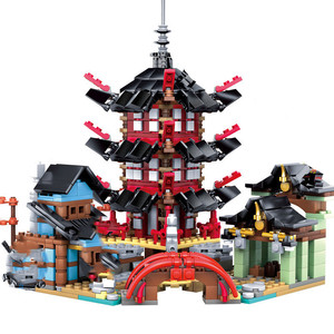 Ninja Temple DIY Building Block Sets 737pcs educational Toys for Children Compatible Lepining ninjagoes(China)