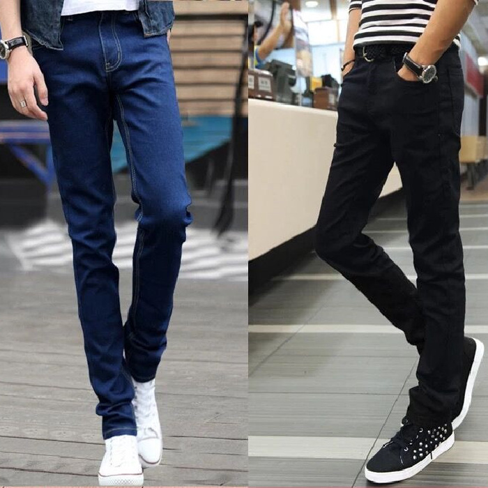 MEN'S Jeans 2019 Autumn Slim Fit Pants Casual Loose Straight Autumn And Winter Long Pants Korean-style Trend Popular Brand