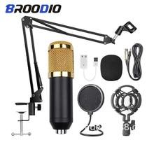 BM 800-micrófono de condensador de Karaoke, estudio profesional cardioide, BM-800, Microfone, grabación de sonido, radiodifusión, micrófono para cantar
