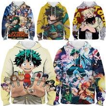 My hero academia hoodie streetwear kids anime 3d print sweatshirt