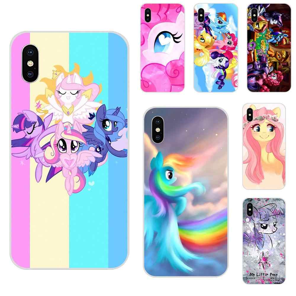 2019 My Little Pony Flower Rainbow TPU Shell For Sony Xperia Z Z1 Z2 Z3 Z4 Z5 compact Mini M2 M4 M5 T3 E3 E5 XA XA1 XZ Premium