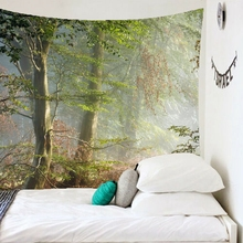 3D Magic Forest Forests Tapestry Wall Hanging Tapestries Hippie Hippy Wallpaper Home Decoration Wall Hanging недорого