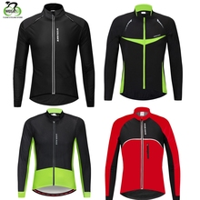 WOSAWE Winter Thermal Fleece Cycling Jackets Mens PU Leather MTB Comfortable Fabric Waterproof Windbreaker Maillot Ciclismo