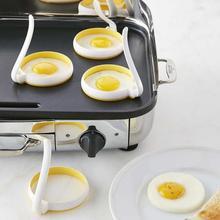 2 Pcs Set Eggs Ring Round Non-stick Nylon TPE Creative Omelet Fryer Ring for Kitchen Accessories Gadget cheap CN(Origin) Egg Pancake Rings 21061559 Eco-Friendly Tabletop Portable Plastic Egg Stiring