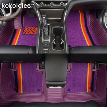 kokololee leather car floor mats for Alfa Romeo Giulia Stelvio 2017 2018 Custom foot Pads automobile carpet car foot mats