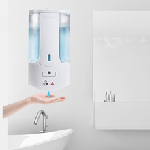 400ml Wall Mounted Automatic Hand Sanitizer Dispenser Smart IR Sensor Touchless Detergent Liquid Soap Dispenser for Kitchen