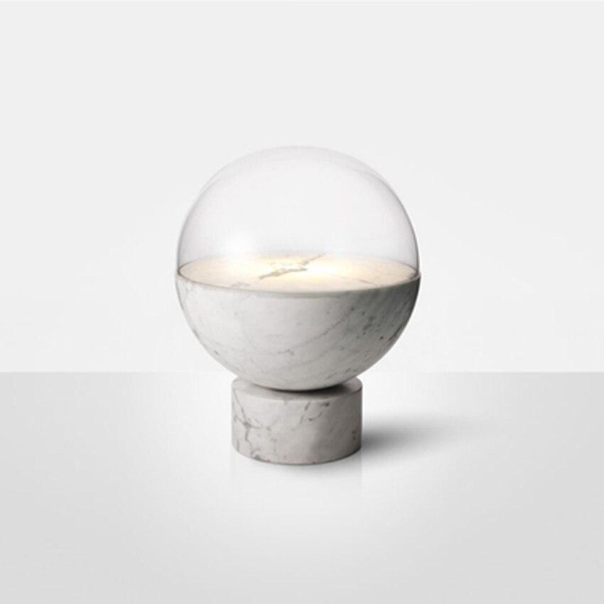 Moderne créatif LED marbre verre Table lumières éclairage nordique salon lampe chambre chevet décor Table lampe luminaires