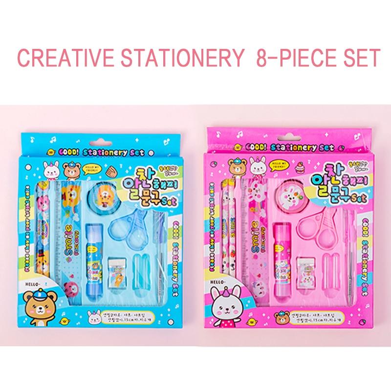 Creative Stationery 8-piece Set Kindergarten Children's Birthday Gift Learning Supplies
