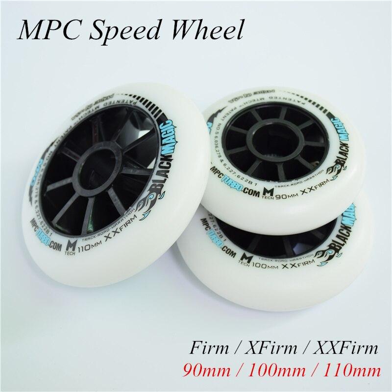 MPC inline speed skates wheel blue red black magic 90 100 100mm speed patines wheels Firm XFirm XXFirm road track marathon 8 pcs|Scooter Parts & Accessories| |  - title=