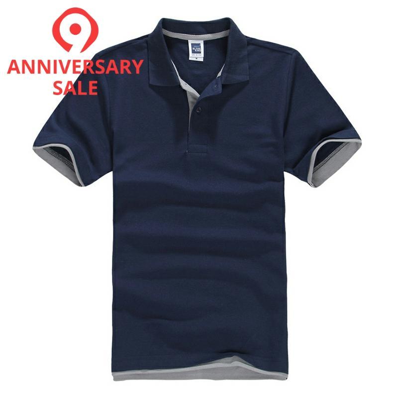 FALIZA New Spring Camisa Polos Shirt Men Design Breathable Cotton Casual Short Sleeve Mens Polos Shirts Plus Size XXXL TX107