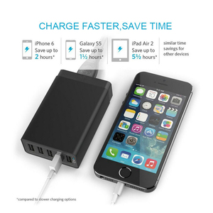 Image 5 - Smart Multi USB Charger 5 USB Travel Wall Charger Adapter 40W 5V 8A US/EU/AU Plug Phone Charger For iPhone Samsung Huawei Xiaomi