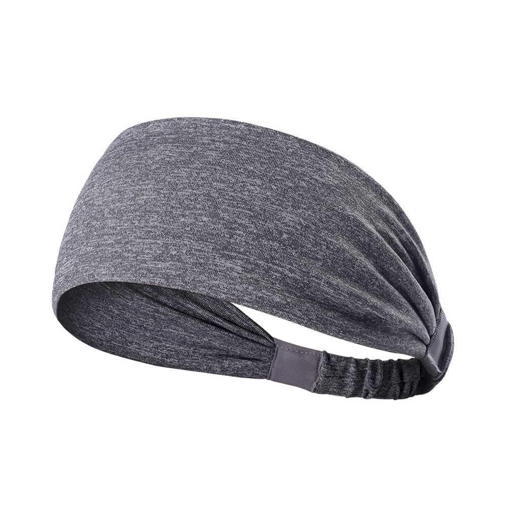Szeroki elastyczny joga opaska do włosów kobiety mężczyźni opaska sportowa chłonne Running Headwrap Fitness Running opaska akcesoria 903