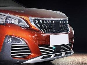 Image 5 - Misura per Peugeot 3008/GT 5008GT 2016 2019 Car Styling griglia anteriore in acciaio inox griglie da corsa Trim 26 accessori per Auto