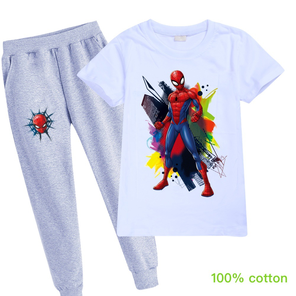 NEW Spiderman Baby Kids Boys Short//Long Hoodies Sweater+Pants Suit Clothing Sets